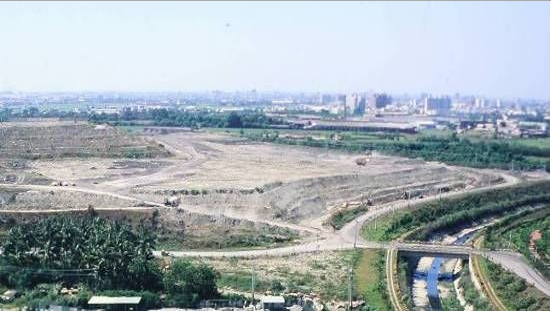 1997 aerial photo of the east side of Phase II of the park